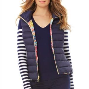 Navy Blue Lilly Pulitzer Puffy Vest
